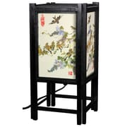 Oriental Furniture Art Shoji Bird 14'' H Table Lamp with Square Shade
