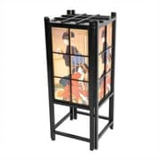 Oriental Furniture Geisha Shoji T 18'' H Table Lamp with Square Shade; Black