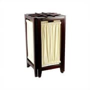 Oriental Furniture Helsinki 18'' H Table Lamp with Square Shade; Black