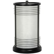 Oriental Furniture Shinjuku Japanese Shoji 13.5'' H Table Lamp with Drum Shade; Black
