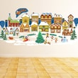 Mona Melisa Designs Peel and Play Holiday Christmas Village Wall Decal