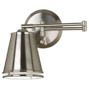 Wildon Home   Chelsea Swing Arm Wall Lamp; Brushed Steel