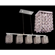 Classic Lighting Bedazzle 5 Light Linear Chandelier; Crystalique-Plus Pink