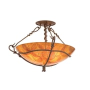 Kalco Vine 3 Light Semi Flush Mount; Gold Streak Amber