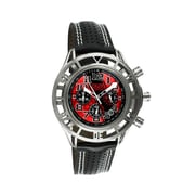 Equipe Mustang Boss 302 Mens Watch with Chrome Case and Red Dial