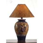 Anthony California 29'' H Indian Bird Table Lamp; Navy