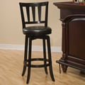 Hillsdale Swivel Presque Isle Bar Stool with Cushion; Black