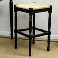 Carolina Cottage Hawthorne 30'' Bar Stool; Antique Black