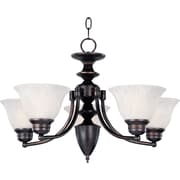 Maxim Lighting Malaga 5-Light Chandelier; Satin Nickel with Frosted Glass Shade