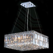 Worldwide Lighting Cascade 12 Light Crystal Chandelier; 7.5'' H x 20'' L x 20'' W