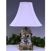 Lamp Factory Floral Tone 23'' H Table Lamp with Bell Shade