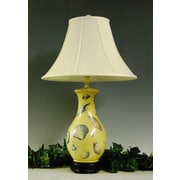 Lamp Factory Shells 34'' H Table Lamp with Bell Shade