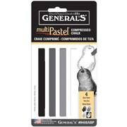 General MultiPastel Compressed Stick (Set of 4)