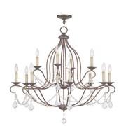 Livex Lighting Chesterfield 12 Light Chandelier; Ventetian Golden Bronze