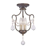 Livex Lighting Chesterfield 3 Light Pendant; Ventetian Golden Bronze