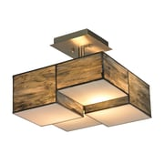 Elk Lighting Cubist 2 Light Semi-Flush Mount; 60W Medium Base