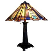 Chloe Lighting Marvel Mosaic Mission 24'' H Table Lamp with Square Shade