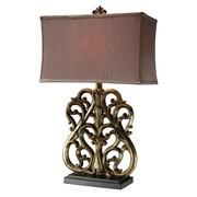 Dimond Lighting Roseville 30'' H Table Lamp with Rectangular Shade; LED