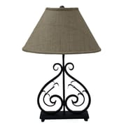 AHS Lighting Deux Scrolls 26'' H Table Lamp with Empire Shade