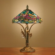 Dale Tiffany Antiques Roadshow Evergreens Dunkirk 15.5'' H Table Lamp with Empire Shade