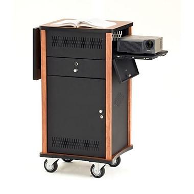 Oklahoma Sound® The Wizard Audio Visual Presentation Cart, Cherry Wood