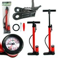 Stalwart™ Hand Bicycle Pump With Built-In Pressure Gauge and Multiple Nozzles