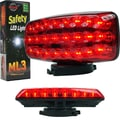 Stalwart™ ML3 Series Red Safety Light With Magnetic Base, 24 LED