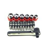 Stalwart™ 17 Piece Deluxe Mini Ratchet Screwdriver Socket Set