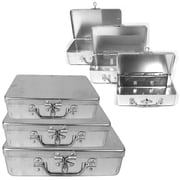 Stalwart™ 3 Piece Aluminum Storage Box With Lockable Clasp