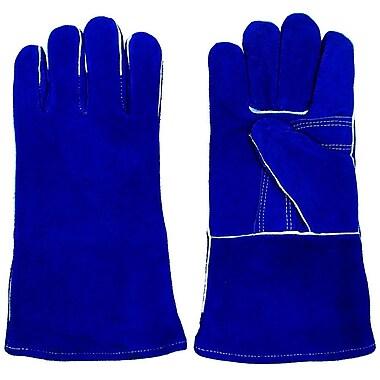 Stalwart™ 100% Leather Premium Welding Gloves, Blue