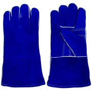 Stalwart™ 100% Leather Premium Welding Gloves, Blue