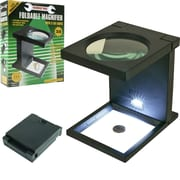 Stalwart™ Foldable Magnifier With 3 LED Lights, Black