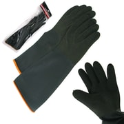 "Stalwart™ Heavy Rubber Crinkle Gloves, 18""L, Black"