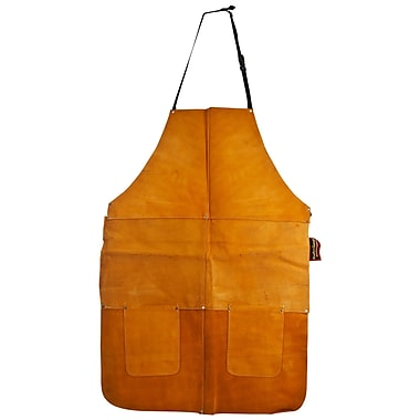 Stalwart™ 75-AL001 Heavy Duty Leather Apron, Large, Gold