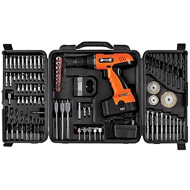 Stalwart™ 89 Piece 18 V Cordless Drill Set, 3/8in. (Dia) Capacity