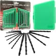 Stalwart™ Carbon Steel Drill Bit Set With Carrying Case, 1/16in. - 1/4in., 13 Piece