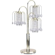 ORE Furniture Crystal 34'' H Table Lamp with Novelty Shade; Polished Brass