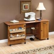 Sauder Storage Sewing/Craft Cart; American Cherry