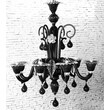 Cristalstrass Murano & Crystal Bartolomeo 8 Light Chandelier; Black and Clear