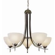 TransGlobe Lighting Contemporary 5-Light Shaded Chandelier; Brushed Nickel