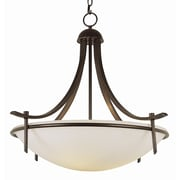 TransGlobe Lighting Contemporary 3-Light Inverted Pendant; Rubbed Oil Bronze