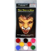 RUBY RED PAINT, INC. Face Paint and 56 Page How To Booklet, Your Face Or Mine, 8 Face Paint Colors