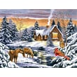 Reeves Paint By Numbers Large Snow Scene Painting