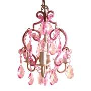 Tadpoles 3 Light Mini Chandelier; Pink Sapphire