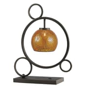 Woodbridge Cirque 20.5'' H Table Lamp with Bowl Shade; Amber