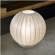 Trend Lighting Corp. Shanghai 17'' H Table Lamp with Square Shade; Sheer Pearl Ribbon