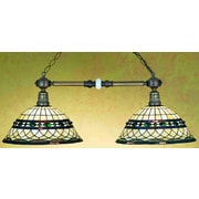 Meyda Tiffany Victorian Tiffany Roman 2 Light Pool Table Light