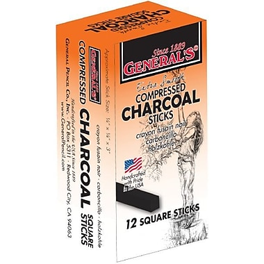 General Compressed Charcoal 6B Stick (Set of 12)