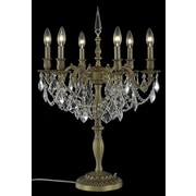 Elegant Lighting Rosalia 28.5'' H Table Lamp; French Gold / Crystal (Clear) / Royal Cut