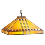 Meyda Tiffany Mission Arts and Crafts Stickley Prairie Corn 4 Light Pool Table Light